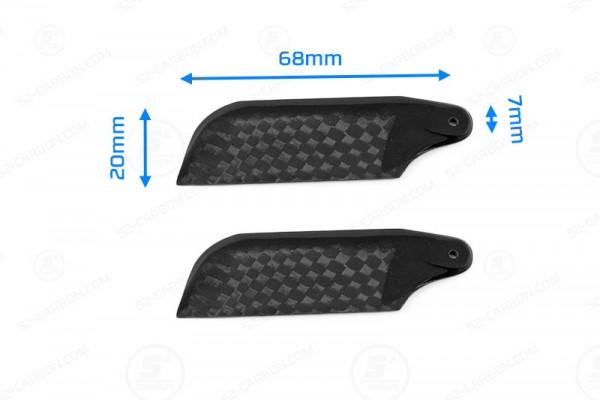 Carbon Heckrotorblätter Tail Blade 68mm für Align RC, T-REX, Walkera