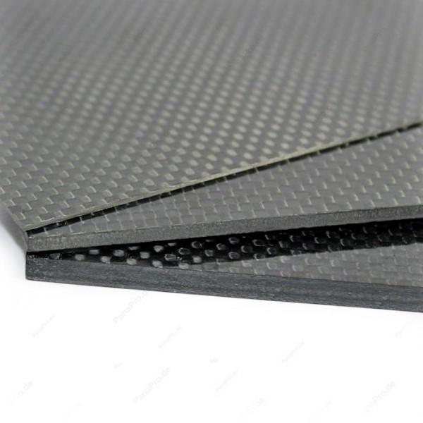 3K Carbon Platte Glänzend / Plate Glossy