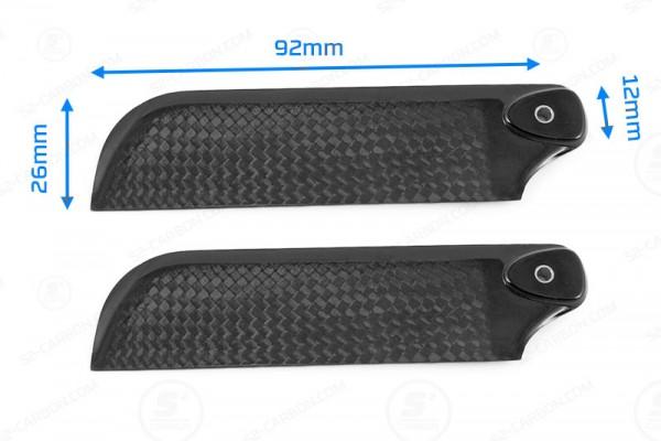 Carbon Heckrotorblätter Tail Blade 92mm für Align RC, T-REX, Walkera
